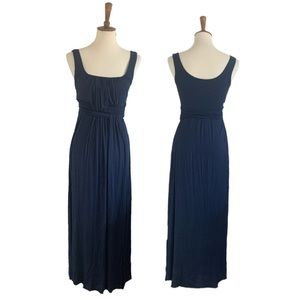 Bailey 44 navy maxi dress with woven front size S